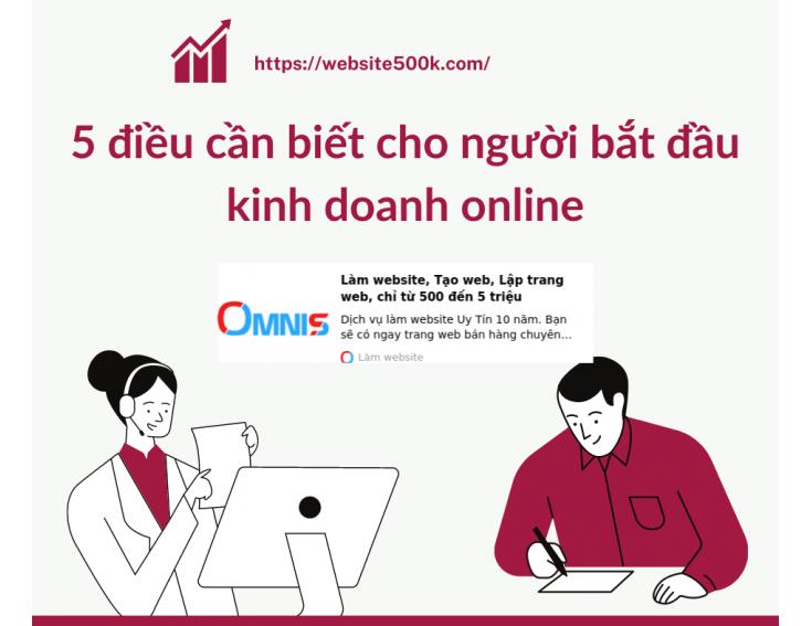 5 điều cần biết cho người bắt đầu kinh doanh online