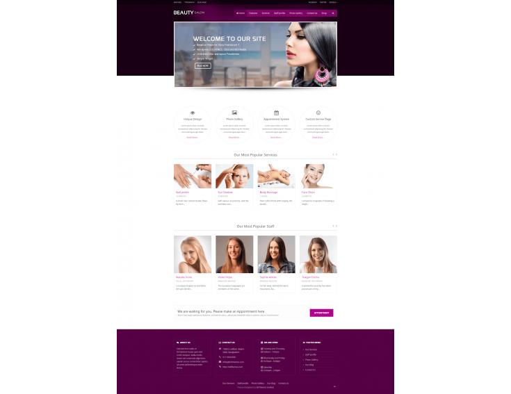 Thiết kế website thẩm mỹ chuẩn SEO, chuyên nghiệp