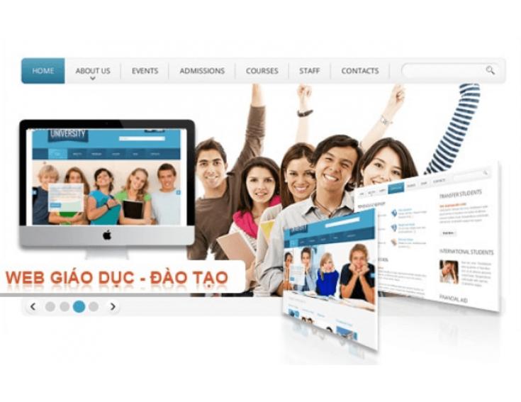 Thiết kế website giáo dục, trường học đẹp, chuyên nghiệp