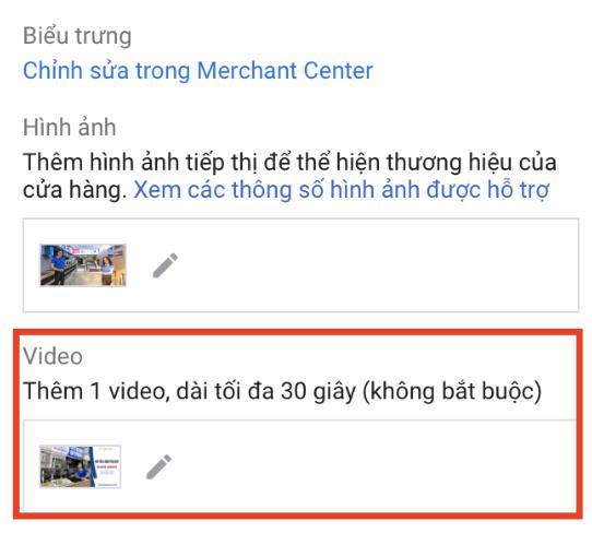 Nên thêm video dài không vượt quá 30 giây